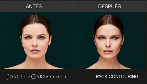 Antes y después del Contouring