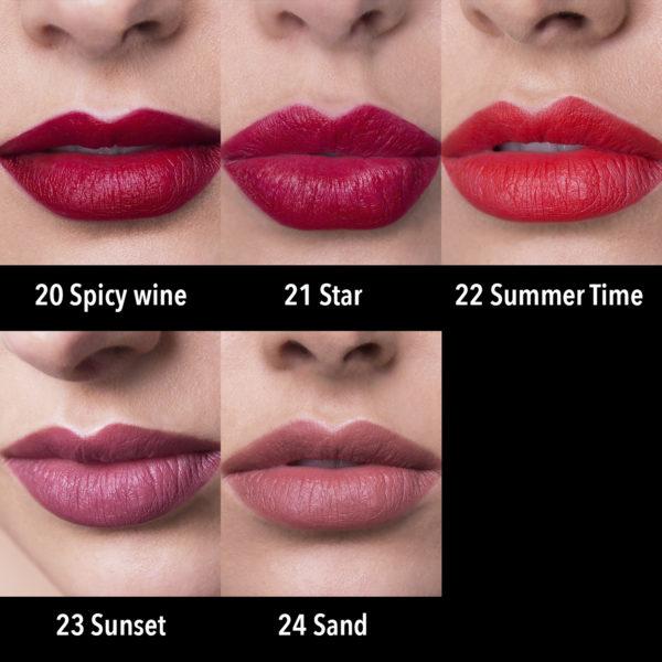 barra labios magnetic matte - tonos colores