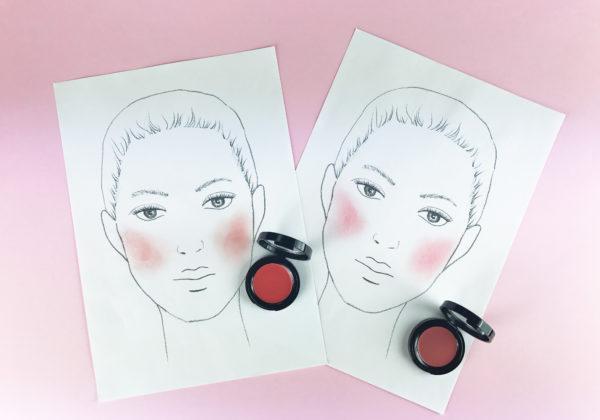Colorete en crema según la forma de tu rostro