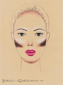 Contouring rostro ovalo alargado