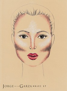 Contouring rostro ovalo corazón