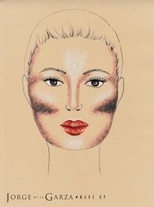 Contouring rostro ovalo cuadrado