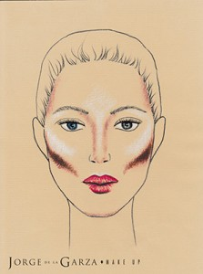 Contouring rostro ovalo normal