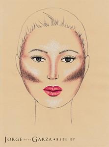 Contouring rostro ovalo redondo