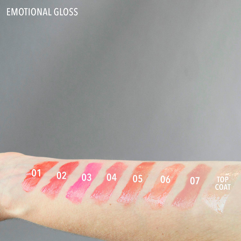 Brillo de labios emotional gloss swatch