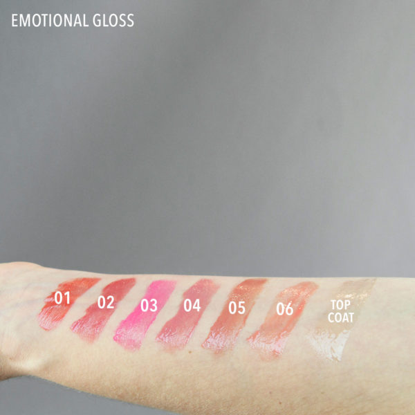 emotional gloss swatch