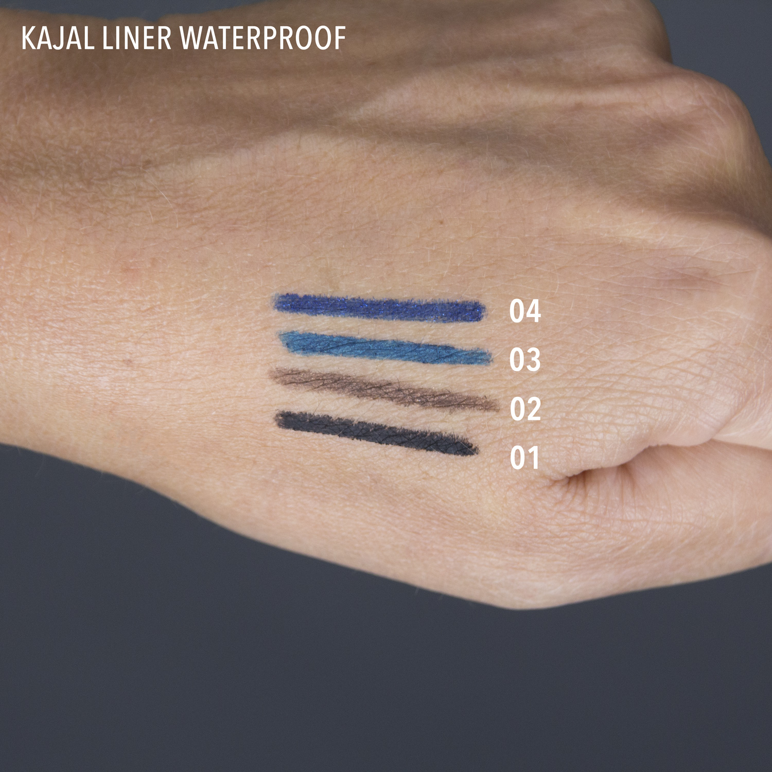 kajal liner waterproof swatch