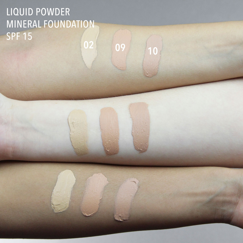 Liquid powder mineral foundation 09 cameo beige