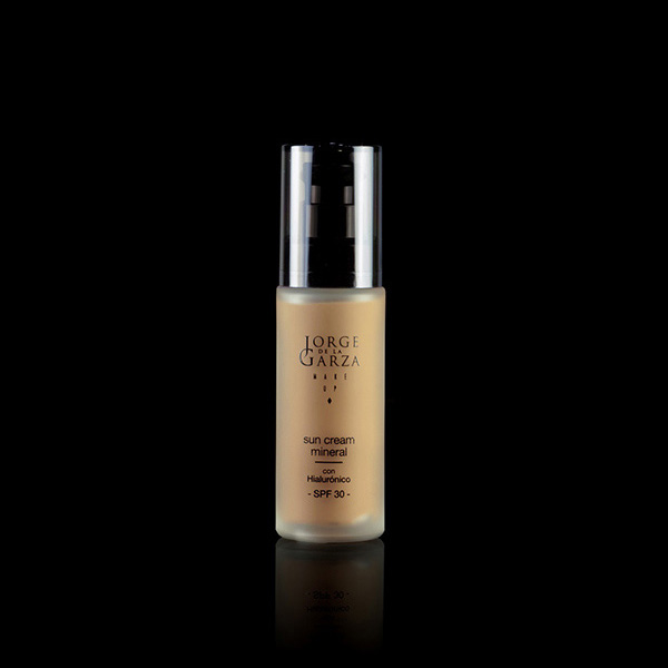Sun cream mineral maquillaje profesional
